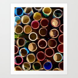 Salvation Mt. Mud Pots Art Print
