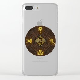 Ilvermorny Knot with House Shields Clear iPhone Case