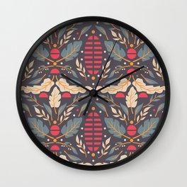 Vintage Floral Pattern 008 Wall Clock