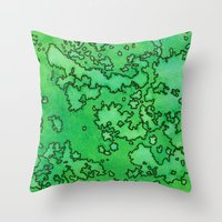 ruben ireland Throw Pillows featuring Ireland by Andrea Gingerich