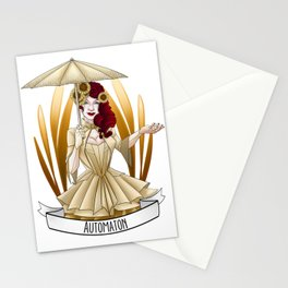 Steampunk Occupation Series: Automaton Stationery Cards