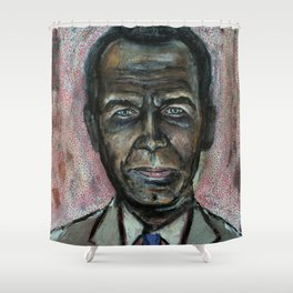 Black Jeff Koons (oil on canvas) Shower Curtain