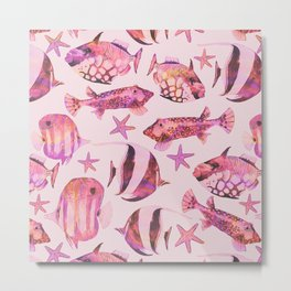 Soft pink underwater fisch scenery Metal Print