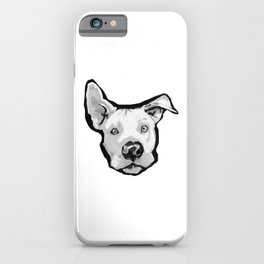RESCUE ME Pit Bull Pitbull Dog Pop Art black and White Painting by LEA iPhone Case