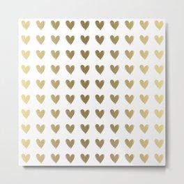 Smal Golden Hearts Metal Print