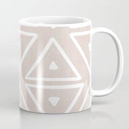 Big Triangles in Tan Coffee Mug