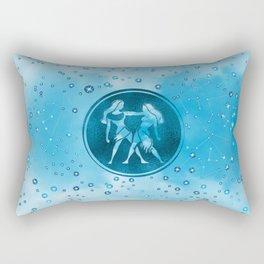 Gemini Zodiac Sign Air Element Rectangular Pillow