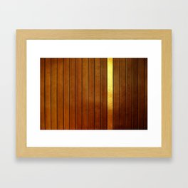 Wood Fence and Gold Framed Art Print