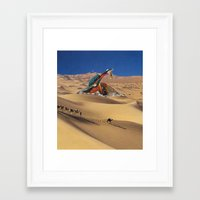 oasis Framed Art Prints featuring Oasis by Lerson