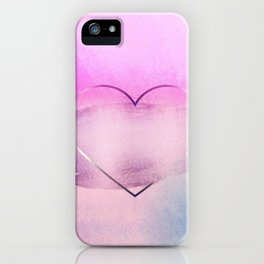 Rainbow Watercolor Heart iPhone Case