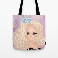 anxiety Tote Bags featuring Anxiety by Victoria Rosas