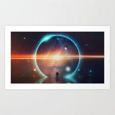 seeing the lights Art Print