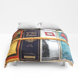 Original Early 1900s American Train Time Tables (RARE) Comforters