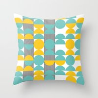 60s Throw Pillows featuring 60s pattern 02 by Ioana Luscov
