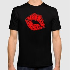 Hello Sweetie MEDIUM Mens Fitted Tee Black