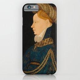 Profile Portrait of a Lady, c. 1410   Finest Religious art   Renaissance art iPhone Case
