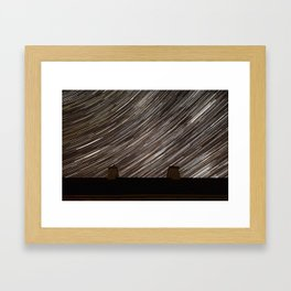 Cluttered Night Sky Framed Art Print