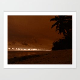 Twilight Beach Art Print
