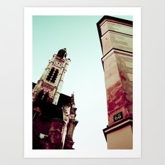 LATIN QUARTER IN PARIS. Art Print