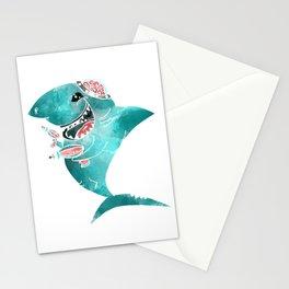 Laser Shark Stationery Cards