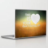laura palmer Laptop & iPad Skins featuring Bastille - Laura Palmer #4 (This Is Your Heart, Can You Feel It?) by Thafrayer