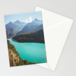 Brilliant Blue Diablo Lake Stationery Cards