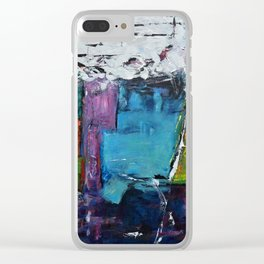 TETRIS, Abstract  Acrylic Painting, colorful mosaic Clear iPhone Case