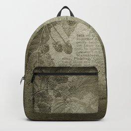Antique Floral Vintage Grunge Grey Backpack