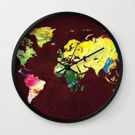 World Map 8 Wall Clock