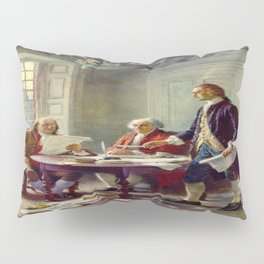 Jean-Leon Gerome Ferris's Writing the Declaration of Independence in 1776 Pillow Sham