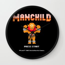 8Bit Manchild Wall Clock