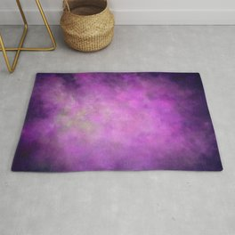 Abstract Soft Watercolor Gradient Ombre Blend 5 Light and Dark Purple Rug