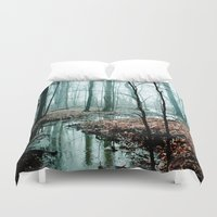 winter Duvet Covers featuring Gather up Your Dreams by Olivia Joy StClaire