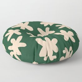 Flower Power Print Floor Pillow