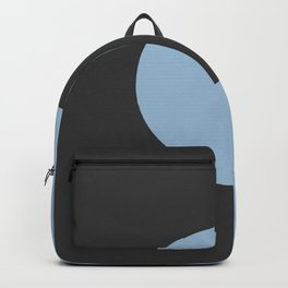 Pastel Blue and Black Minimal Circle Design 2021 Color of the Year Earth's Harmony and True Black Backpack