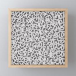 Learn the alfabet Framed Mini Art Print