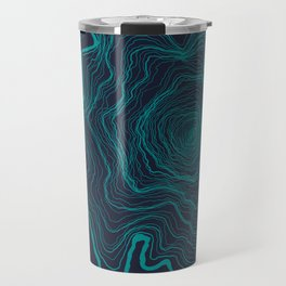 Tree Rings of Midnight Travel Mug
