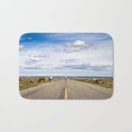 Wild Horses on the Trail of the Ancients Scenic Byway Bath Mat