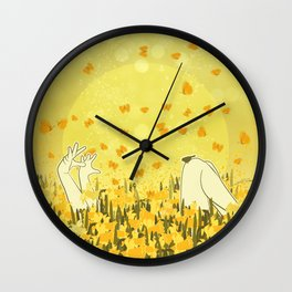 Yellow Effervescence Wall Clock