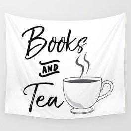 Books & Tea Wall Tapestry