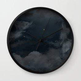 A Cloudy Night Wall Clock