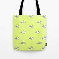 planes Tote Bags featuring Planes by Darlene Boza
