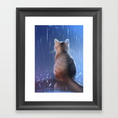 under rainy days like these Framed Art Print