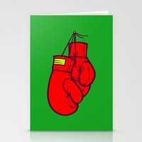 boxing Stationery Cards featuring Boxing Gloves by Artistic Dyslexia