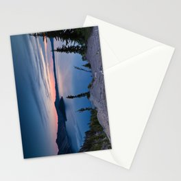 Sunrise At Crater Lake Stationery Cards