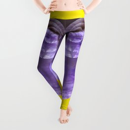 Yellow Mystical Powers of Amethyst #society6 Leggings