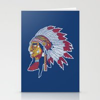 indiana Stationery Cards featuring indiana by Hugo Tunes