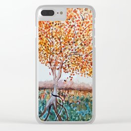Standing Alone Tree Clear iPhone Case