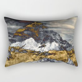 Gold Mountain Rectangular Pillow