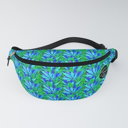 Cannabis Print Green and Blue Fanny Pack